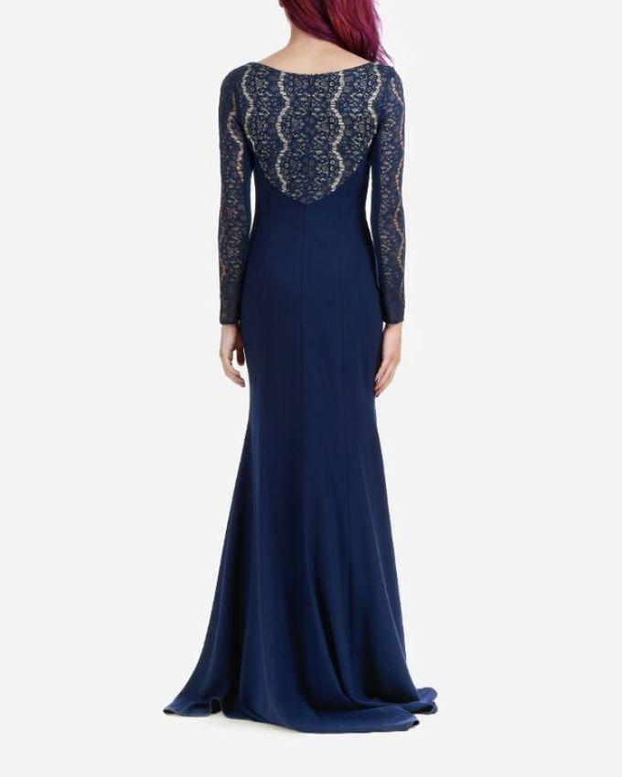 فستان مستر جو - ذيل السمكة باللون الازرق البحرى (4)