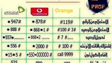 صورة قائمة اكواد فودافون – اتصالات – اورانج ـ لاتتعب نفسك فى الاتصال بخدمة العملاء